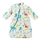 EsTong Unisex Baby SleepSack Wearable Blanket Cotton Sleeping Bag Long Sleeve Nest Nightgowns Thickening Dinosaur Large