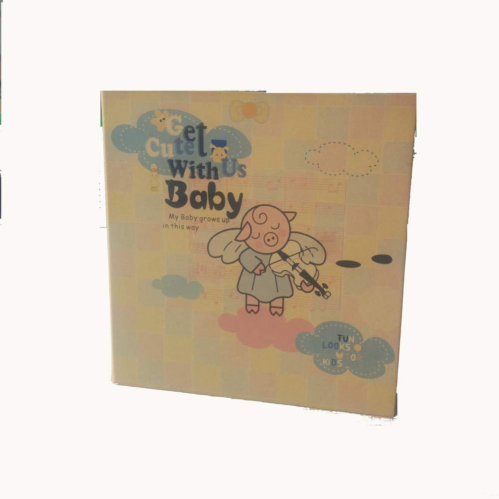 SEBAS Home Manual de la Madre del Libro Crecimiento de Registro del Crecimiento Libro del bebé del Cuaderno del Graffiti de 6 Hoyos del álbum de Fotos de 8 Pulgadas Pintado a Mano (Size : A) 59c41a