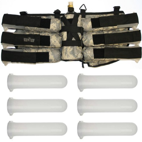 GXG Paintball 6+1 Harness Ammo Pack - ACU with (Harness Ammo Pack)