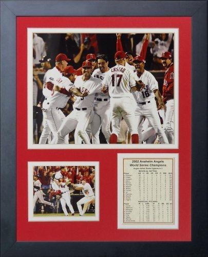 Legenden Sterben Nie 2002 Los Angeles Angels of Anaheim Champions gerahmtes Foto Collage, 11 von 35,6 cm von Legends Never Die