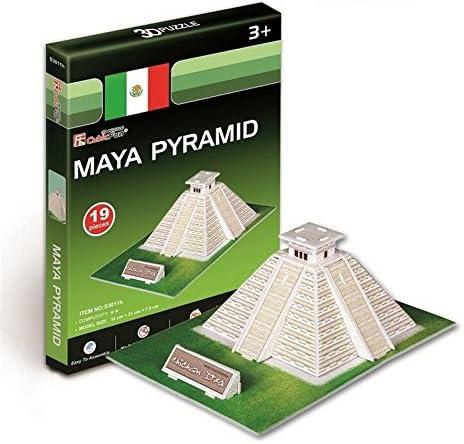 Mayaピラミッド3dパズル男の子女の子モデル紙DIY教育玩具