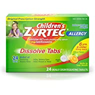 Children's Zyrtec 24 HR Dissolving Allergy Relief Tablets with Cetirizine, Citrus Flavored, 24 ct, Packaging  may vary
