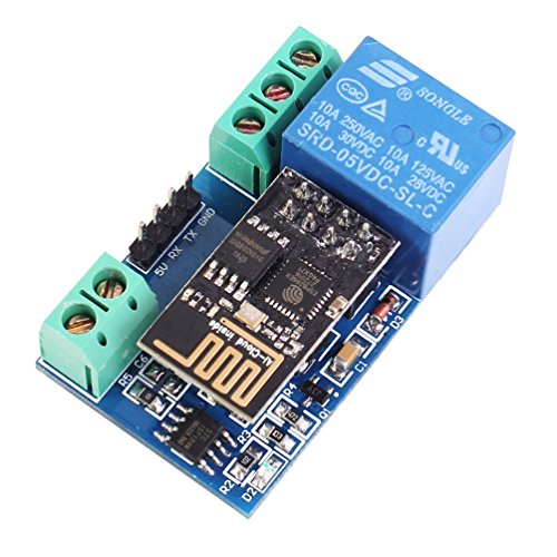 WHDTS ESP8266 WiFi 5V 1 Channel Relay Delay Module IoT Smart Home Remote Control Android Mobile Phone APP Control 400m Transmission (1 Channel Relay)