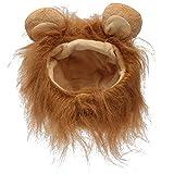 M Pet Dog Cat Artificial Lion Mane Wig Halloween Costume (Light Brown) shopping by dipshop
