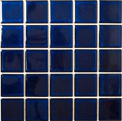 Mosaikfliese Keramik kobaltblau dunkelblau gl/änzend Fliesenspiegel MOS14-0405
