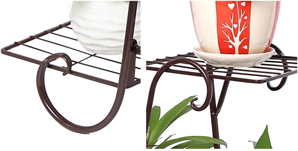 ZUJI Blumenst/änder Metall Mehrschicht 72 x 74 x 21 cm Pflanzenst/änder Gro/ß Blumenregal Deko f/ür Innen Au/ßen Garten Balkon