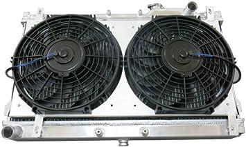 90-97 Mazda Miata 1.8 1.6 Manual MX5 Full Aluminum Radiator 12 fan with Shroud