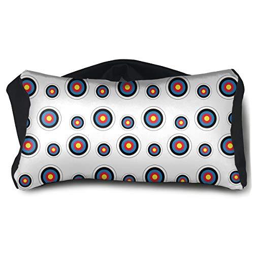 (Eye Mask Pillow for Headaches Sleeping - Archery Target Colorado Circular Eye Mask Pillow, Washable Elastic Sleep Eye Mask Pillow Eyeshade 2 In 1 Travel Neck Pillow & Eye)