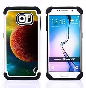 BullDog Case - FOR/Samsung Galaxy S6 G9200 / - / The Red Planet /- H??brido Heavy Duty caja del tel??fono protector din??mico - silicona suave