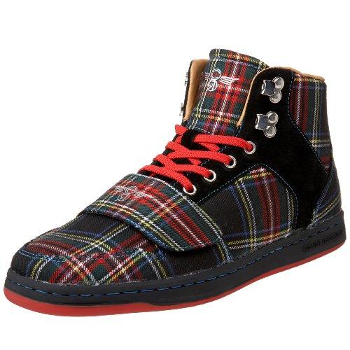 Cesario High Top - Creative Recreation Men's Cesario High-Top Sneaker,Black/Tartan,9 D US