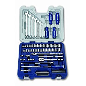 Williams 50605 3/8-Inch Drive Socket, Screwdriver and Wrench Set, 62-Piece