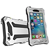 iPhone SE case,iphone 5s case Feitenn Water resistant Rain Proof Shockproof Dust Proof Armor Aluminum Metal bumper Gorilla Glass Military Heavy Protection Case for Iphone 5S SE(Sliver)