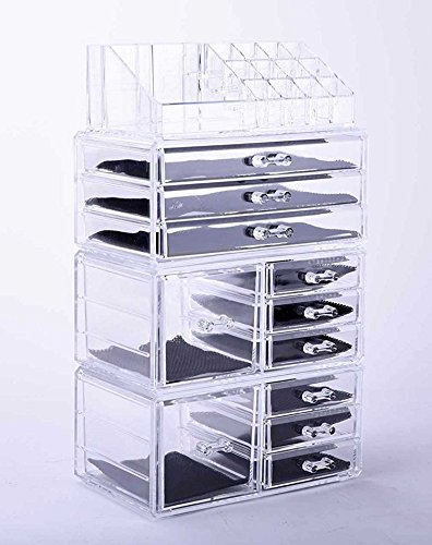Vencer Jewelry and Cosmetic Storage Makeup Organizer Set,4 Piece,VMO-021 - 4 Piece Storage