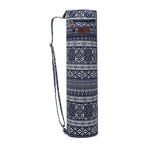 Fremous Yoga Mat Bag and Carriers for Women and Men – Double Storage Pocket – Easy Access Zipper – Adjustable Shoulder Strap and Handle (Chinese style)