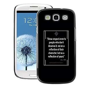 A-type Arte & diseño plástico duro Fundas Cover Cubre Hard Case Cover para Samsung Galaxy S3 (Retro Quote Old Vintage Gentleman Black)