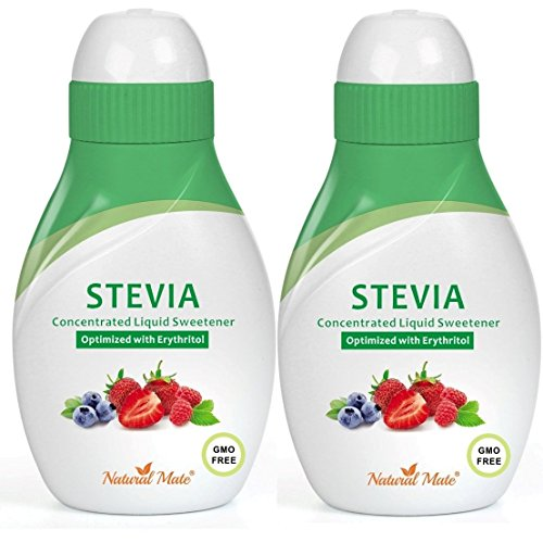 - Stevia Concentrated Liquid Sweetener (Optimized with Erythritol) 1.33 FL OZ (37 mL) - 2 Pack