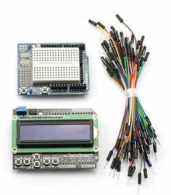 SainSmart C19 Kit con teclado LCD Shield + prototipo escudo + Mini Breadboard + Jump wires