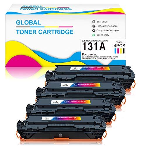 ChenPhon Compatible Toner Cartridge Replacement for HP CF210A CB540A CE320A Work with Hp Laserjet CP1210 CP1215 CP1510 CM1312 CP1525 CM1415 M251 MPF M276 Printers-4 Pack