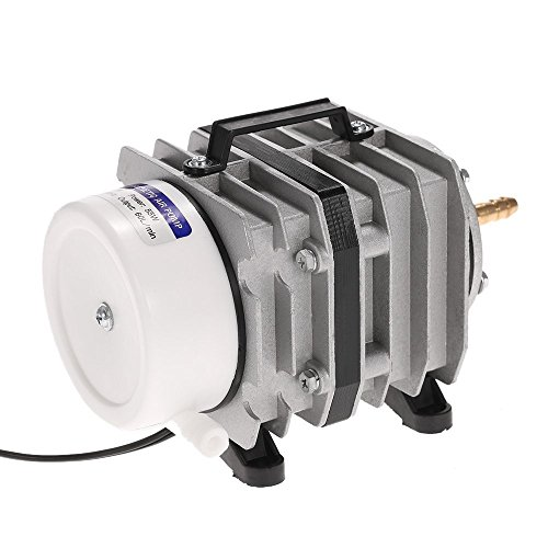Protmex Active Aqua Commercial Air Pump, 8 Outlets, 55W, 60 L/min, Aquarium Air Pump Electrical Magnetic Oxygen Pump (Cylinder 55w)