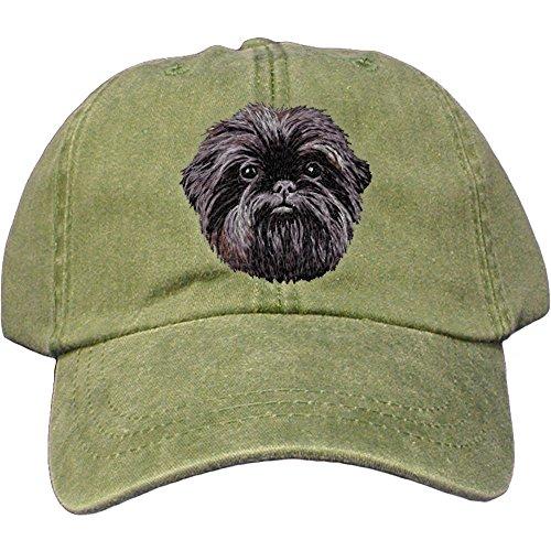 (Cherrybrook Dog Breed Embroidered Adams Cotton Twill Caps - Spruce - Affenpinscher)