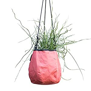 Water Creations Deco Planter Hanging Pot for Home and Garden, for use with Aquatic Plants, Herbs, and more, 9-Inch, Red