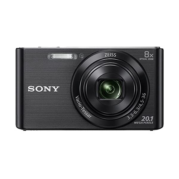 RetinaPix Sony DSC W830 Cyber-Shot 20.1 MP Point and Shoot Camera (Black) with 8X Optical Zoom