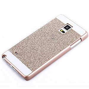 and Fashion Samsung Galaxy S6 Edge Case,Top Selling(TM) Luxury Bling Diamond with Crystal Rhinestone Vibrant Trendy Color Slider Style Hard pc Case for Samsung Galaxy S6 Edge + Bonus Top Selling Logo Stylus