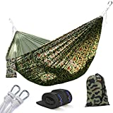Yes4All Ultra Light Hammocks - Double - Camouflage with Tree Strap - ²DU9HZ
