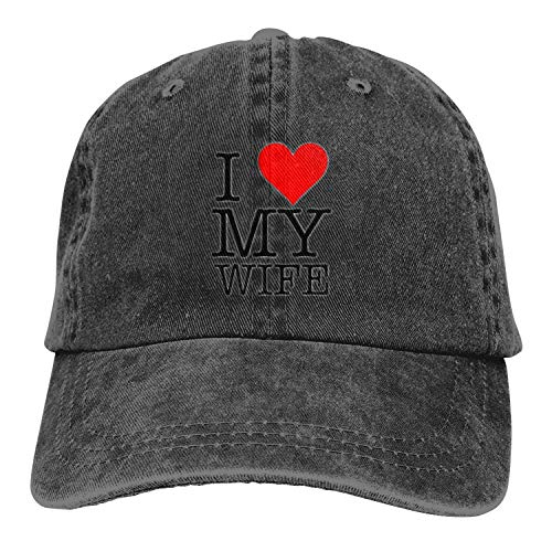 I Love My Wife 3D Creative Personality Washed Denim Hats Autumn Summer Men Women Golf Sunblock Hockey Caps