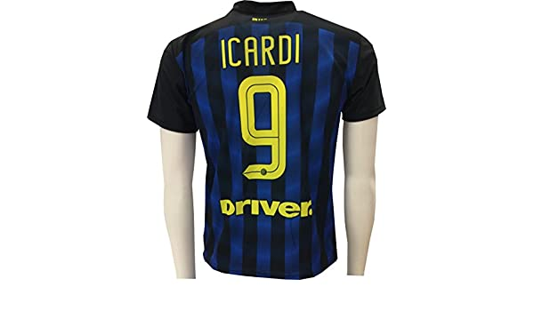 Camiseta Jersey Futbol Inter Mauro Icardi 9 Replica Autorizado: Amazon.es: Deportes y aire libre