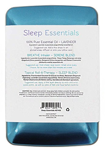 Sparoom Sleep Essentials Oil Travel Pack With Accessory Tin, Aromatherapy, 0.25 Pound by SpaRoom (Image #2)