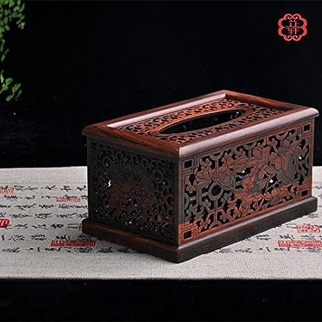 GFEI Tejido de madera cajas, retro Creative Home servilletas, cajas de papel, sala