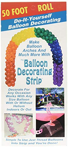 Ladybug 51711 Strip Balloon Decorating Accessory, 50', Clear