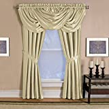 Best Versailles Home Fashions Home Fashion Curtains Whites - Elrene Versailles Window Panel Ivory108Long 52Wide Review