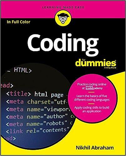 Coding For Dummies 1, Nikhil Abraham, eBook - Amazon com
