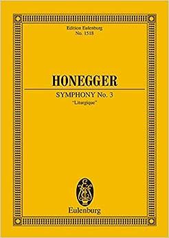 Symphony 3 Liturgique (Edition Eulenburg)