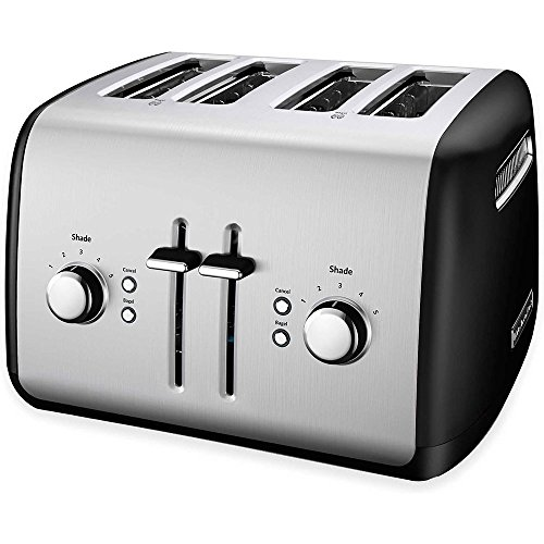 KitchenAid KMT4115OB Toaster with Manual High-Lift Lever, Onyx Black