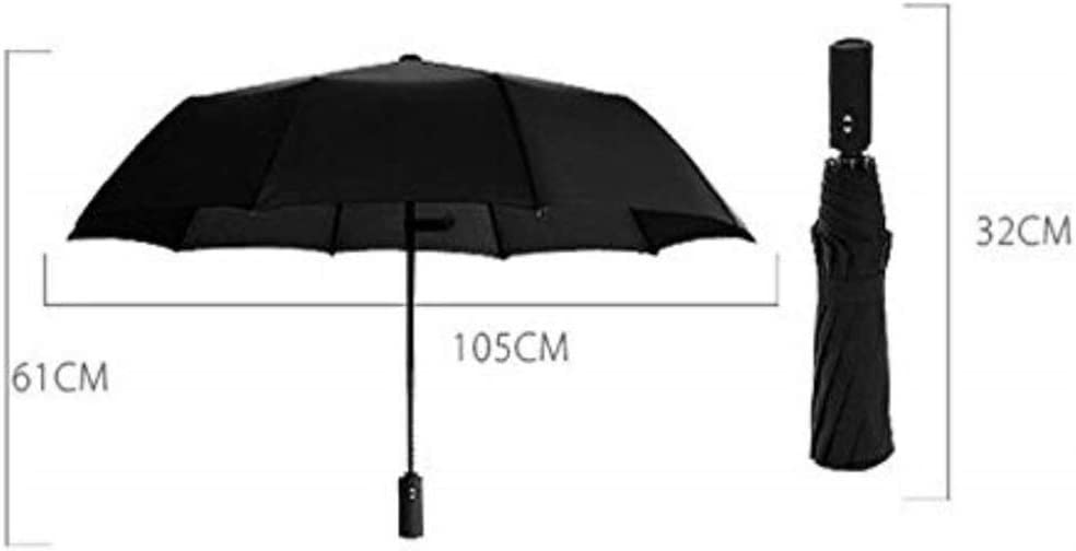 Windproof Reinforced Canopy for Men and Women Teflon Waterproof Umbrella Q-HW Compact Travel Umbrella