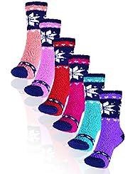 Basico Soft Warm Microfiber Fuzzy Winter Socks *Crew 12pairs(1pack)
