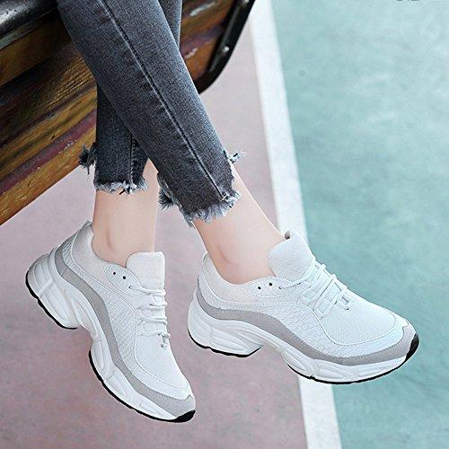 Señoras Caminar para Deportivas Blanco para Zapatos Cuero Ligeros Mujeres Correr Trekking Zapatos Zapatos para De Alpinismo Malla De para gRw8gqr