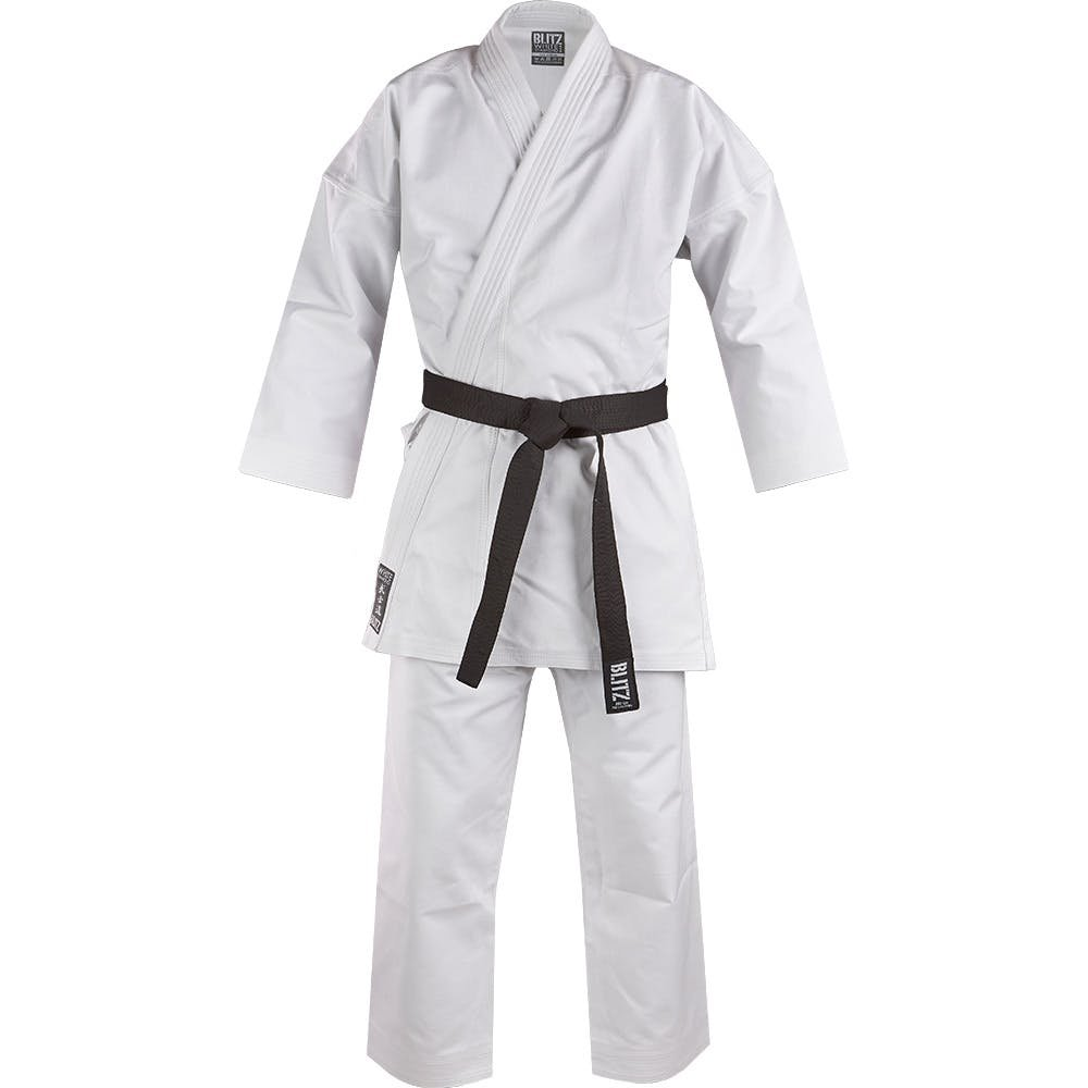 Blitz White Diamond Kimono de Karate, Color Blanco Blitz Sports
