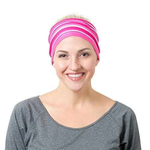 (RiptGear Headband - Pink Striped )