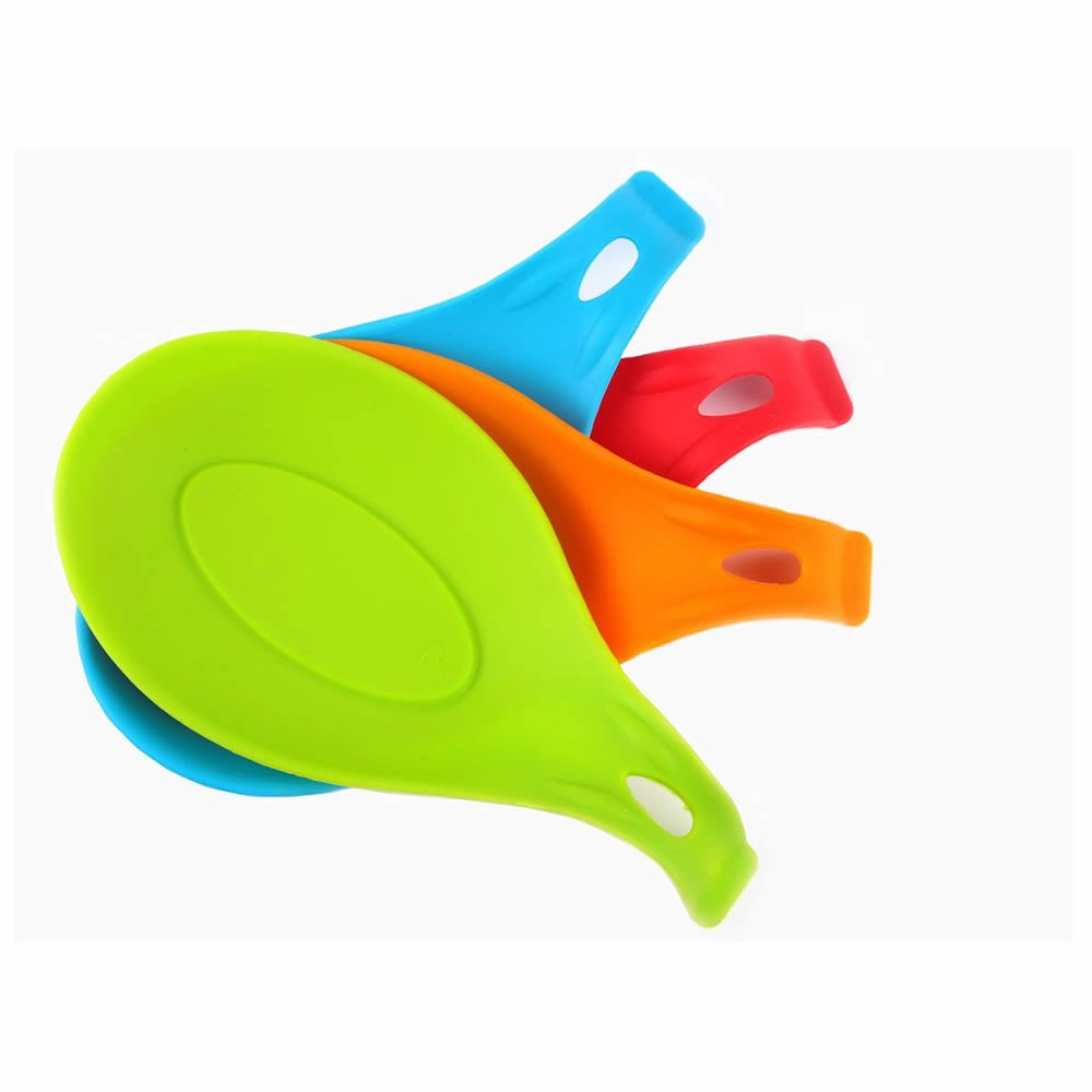 GOOTRADES Silicone Spoon Rest Heat-resistant Brush Rest BBQ Grilling Table Mat (pack of 2)