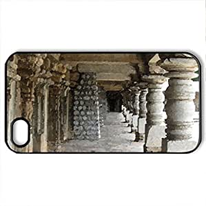 Somnathpur Tample - Case Cover for iPhone 4 and 4s (Monuments Series, Watercolor style, Black)