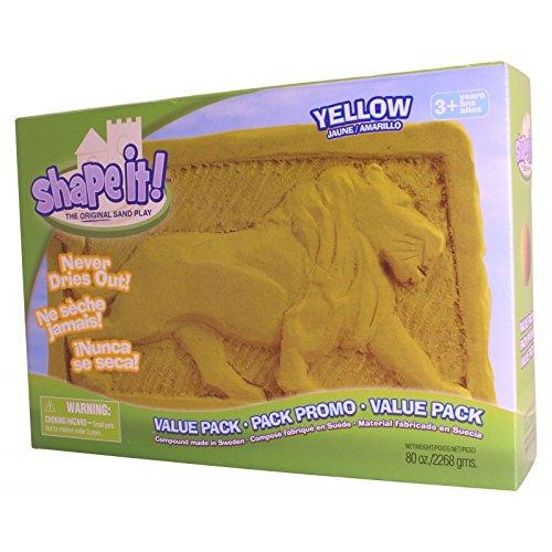 Constructive Playthings DEL-3 Yellow Shape It! Sand 5 lb. Box 10.9