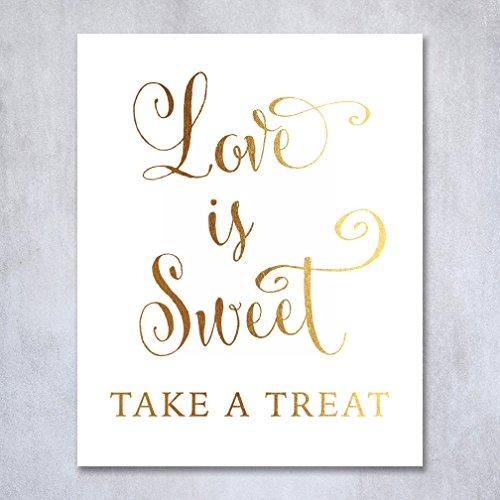 Wedding Signage Calligraphy Elegant Metallic product image