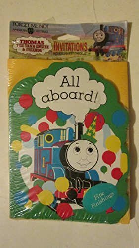 Thomas the Tank Engine and Friends 8 Birthday Invitations & Envelopes - Thomas