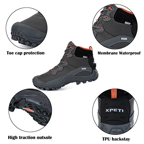 9d8da066719 good XPETI Men's Dimo Mid Waterproof Hiking Trail Outdoor Boot ...