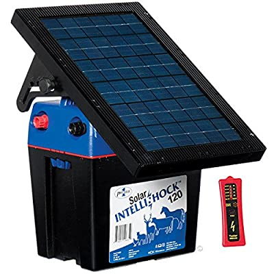 Premier Solar IntelliShock 120 Fence Energizer Kit - Includes 5 - Light Wireless Fence Tester