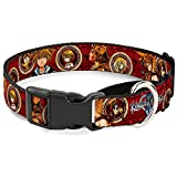 "Buckle-Down MGC-WDY211-M Martingale Plastic Clip Collar, Kingdom Hearts Sora Poses/Friend Cameos, 11""-17"""